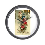 Christmas Sledding Wall Clock