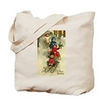 Christmas Sledding Tote Bag