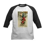 Christmas Sledding Kids Baseball Jersey