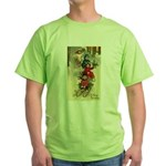 Christmas Sledding Green T-Shirt