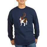 Bulldog with antlers Long Sleeve Dark T-Shirts