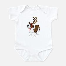 Bulldog in Antlers Infant Bodysuit