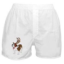 Bulldog in Antlers Boxer Shorts
