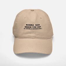 Momma Knock Out Baseball Baseball Cap