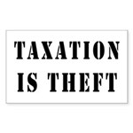 Taxation is Theft Rectangle Sticker 50 pk)