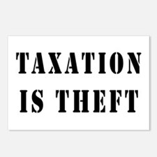 Taxation is Theft Postcards (Package of 8)