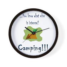 intense camping Wall Clock