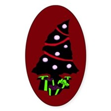 Very Gothy Christmas Oval Decal