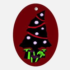Very Gothy Christmas Oval Ornament
