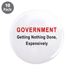 "Expensive Government 3.5"" Button (10 pack)"