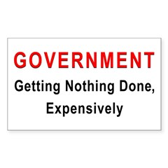 Expensive Government Rectangle Decal