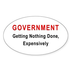Expensive Government Oval Decal