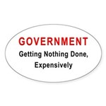 Expensive Government Oval Sticker (50 pk)