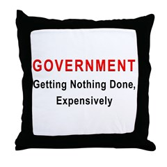 Expensive Government Throw Pillow