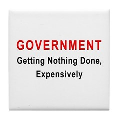 Expensive Government Tile Coaster