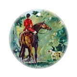 Fox hunting ornaments Round Ornaments