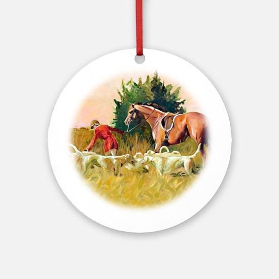 Hunt Landscape, V - Ornament (Round)