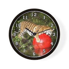 Tiger Auroara Wall Clock