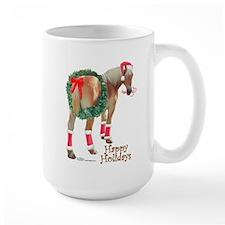 Christmas Draft Horse Belgian Mug