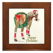 Christmas Draft Horse Belgian Framed Tile