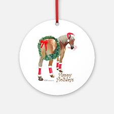 Christmas Draft Horse Belgian Ornament (Round)