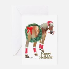 Christmas Draft Horse Belgian Greeting Card