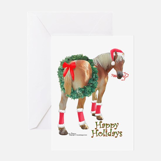Christmas Draft Horse Belgian Greeting Card