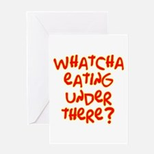 under where? /red Greeting Card