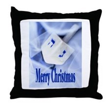Christmas Dreidel Throw Pillow