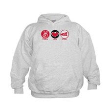 Peace Love Cheer Red Hoodie