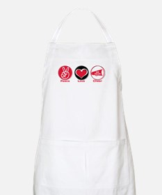 Peace Love Cheer Red Apron