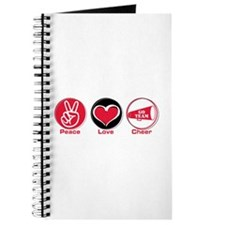 Peace Love Cheer Red Journal