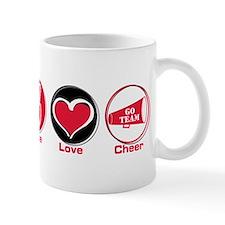 Peace Love Cheer Red Mug