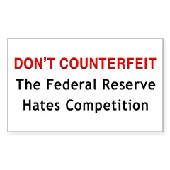 Don't Counterfeit Rectangle Decal