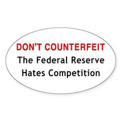 Don't Counterfeit Oval Sticker (10 pk)