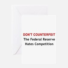 Don't Counterfeit Greeting Card