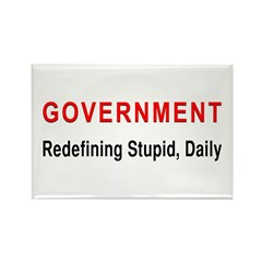 Stupid Government Rectangle Magnet (100 pack)