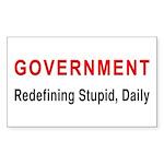 Stupid Government Rectangle Sticker