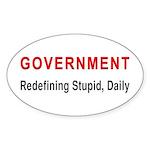 Stupid Government Oval Sticker