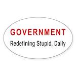 Stupid Government Oval Sticker (50 pk)
