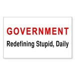 Stupid Government Rectangle Sticker 10 pk)