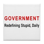 Stupid Government Tile Coaster