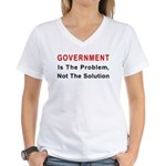 Government is the problem Women's V-Neck T-Shirt