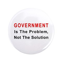 """Government is the problem 3.5"""" Button (100 pa"""