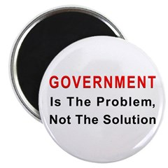 "Government is the problem 2.25"" Magnet (10 pack)"
