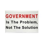 Government is the problem Rectangle Magnet (100 pa