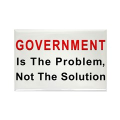 Government is the problem Rectangle Magnet (10 pac