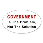 Government is the problem Oval Sticker