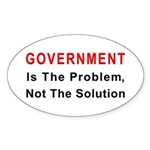 Government is the problem Oval Sticker (10 pk)