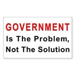 Government is the problem Rectangle Sticker 10 pk